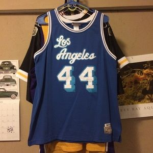 50e264d4847 Mitchell   Ness Shirts - Jerry West Los Angeles Lakers jersey